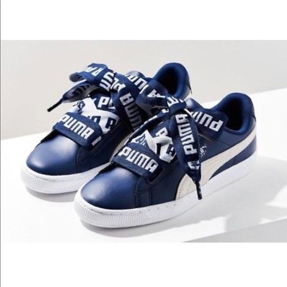 best service b12ba 7f622 Brand New Puma Basket Heart Sneaker Women NWT